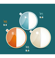 Modern business circle style options banner vector image vector image