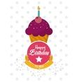 muffin happy birthday design vector image