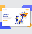 online delivery service concept vector image vector image