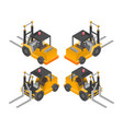 orange forklift truck vector image vector image