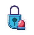padlock secure with alarm light emergency