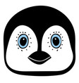 penguin cute animal head funny cartoo vector image