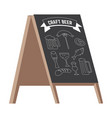 pub menu street stand or stopper isolated icon vector image