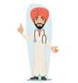 Quality treatment turban arab male serious vector image