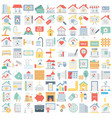 real estate color isolated fu vector image vector image