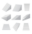 realistic detailed 3d white blank staircases vector image vector image