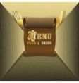restaurant menu and scroll envelope vector image vector image