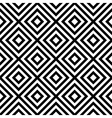 Rhombus seamless pattern in black and white vector image vector image