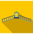 Rialto Bridge Venice icon flat style vector image vector image