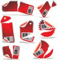 ripped labels vector image vector image