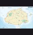 road map viti levu republic fiji vector image vector image