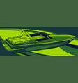 sea boat icon graphics art vector image vector image