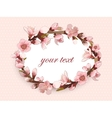 Seamless Pattern With Blossoming Pink Flowers vector image