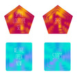 Set of colored glass geometric shapes for your log vector image vector image