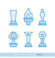 set of premium award icons eps10 vector image