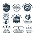 set outdoor wild life related labels badges vector image vector image