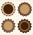 set vintage and modern logo badges and labels vector image