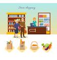 shop supermarket interior healthy eating vector image