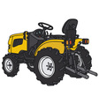 Small tractor vector image vector image