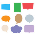 speech bubbles in pop art style colorful set vector image vector image
