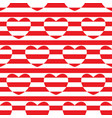 striped seamless pattern with hearts vector image
