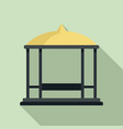 structure gazebo icon flat style vector image vector image