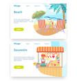 summer tropical vacation travel holiday vector image vector image