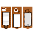 three coffee menu card vector image vector image