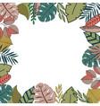 tropic frame design vector image vector image