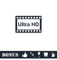 TV Ultra HD icon flat vector image