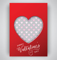 valentines day heart background 1301 vector image vector image