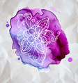 Watercolor design element vector image vector image