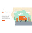 website template design for delivery service vector image