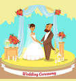 wedding ceremony flat vector image