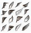 wings collection set elements for logo design vector image