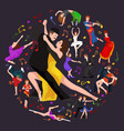 yong couple man and woman dancing tango with vector image vector image