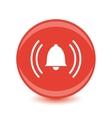 alarm red circle web glossy icon vector image