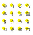16 sale icons vector image vector image