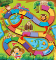Animals zoo game vector image vector image