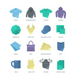 Apparel and Personal Items Icons vector image