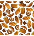 Bakery and pastry seamless pattern vector image vector image