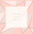 beautiful trendy polygonal abstract background vector image