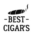 best cigar logo simple style vector image vector image