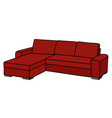 big red couch vector image vector image