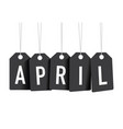 black april tags vector image vector image