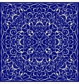 Blue bandanna with white pattern vector image vector image