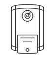 boiler icon outline style vector image vector image