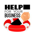 business life buoy vector image