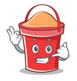 call me bucket character cartoon style vector image