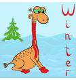 Camel winter vector image